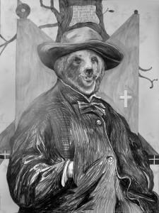 Thomas Palme, Walt Whitman, graphite on paper, 2009.