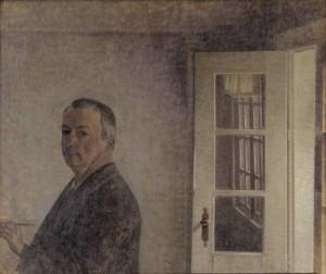 Vilhelm Hammershøi, Selvportræt. Spurveskjul, 1911
