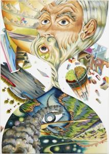 Martin Bigum, Øjeblikket, olie på lærred, 190 x 135 cm, 2012