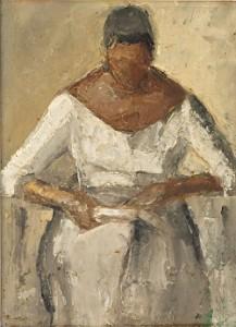 Vontillius, Læsende kvinde, 1985