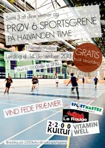 Plakat 6 sportgrene m sportm