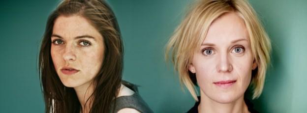 Forfattermøde. Kjersti Annesdatter Skomsvold (N) og Stine Pilgaard (DK)