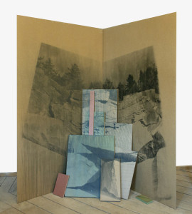 Ditte Knus Tønnesen: If You Are Earth Then I am Water, 2014, photographic emulsion and varnish on MDF boards, 220 x 166 x 130 cm