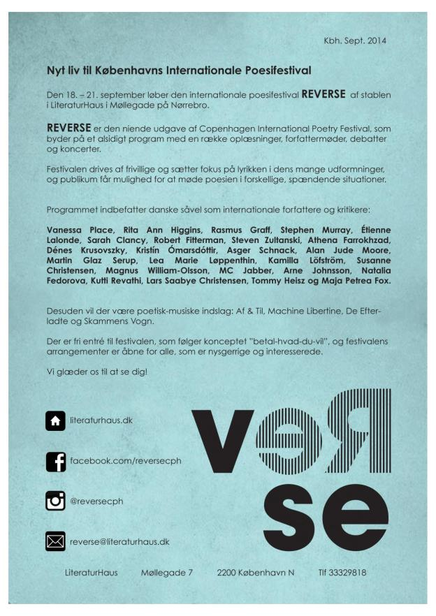 Reverse International Poetry Festival