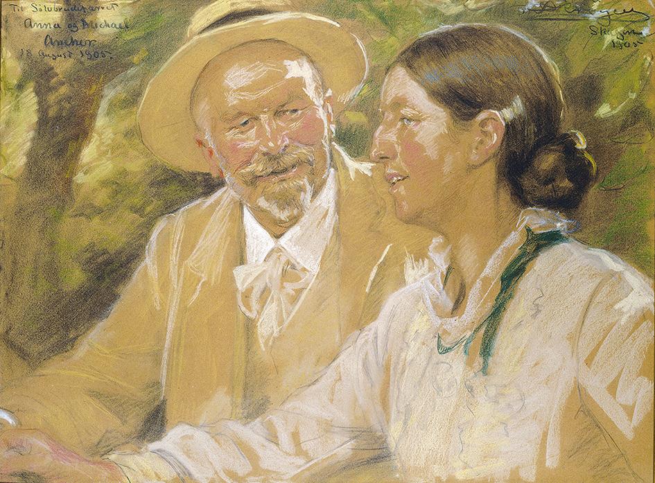 P.S. Krøyer, Dobbeltportræt af Michael og Anna Ancher i anledning af deres sølvbryllup