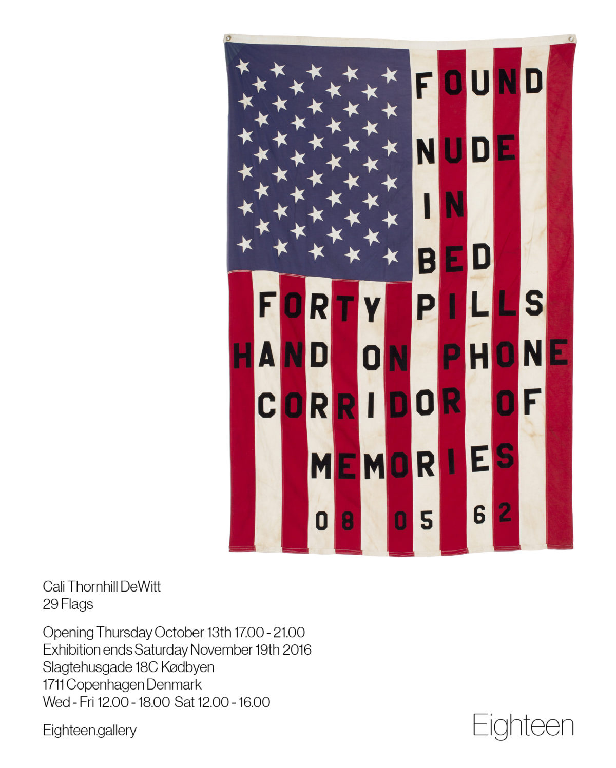 Opening reception: 29 Flags – a solo exhibition by Cali Thornhill DeWitt