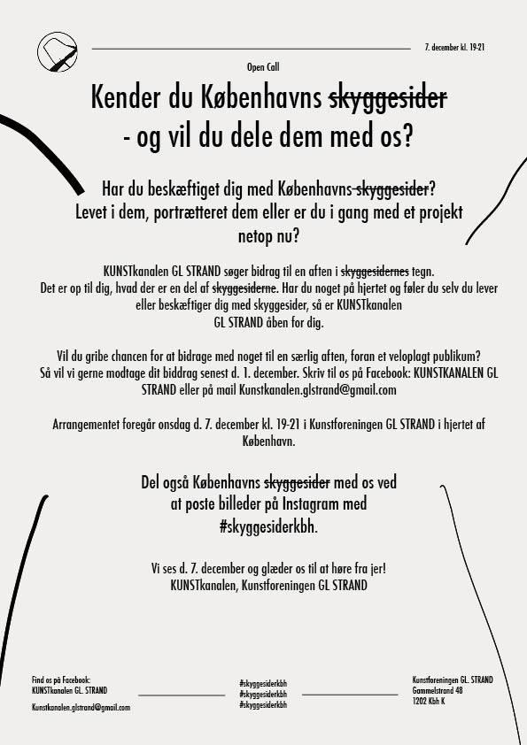 OPEN CALL: KENDER DU KØBENHAVNS SKYGGESIDER – OG VIL DU DELE DEM MED OS?