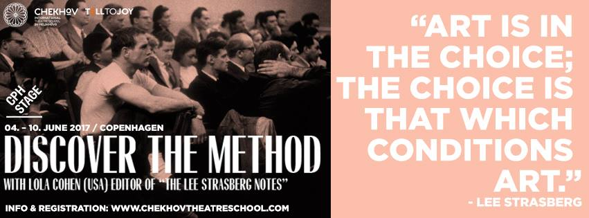 CPH STAGE 2017: Lee Strasberg's Method Acting With Lola Cohen (USA)