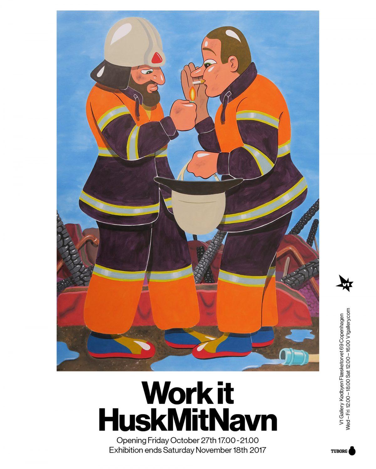 FERNISERING 27. oktober: V1 Gallery præsenterer to soloudstillinger af HuskMitNavn (DK)